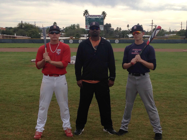Brandon Seiler (left) Coach Darren Blakely (middle) Ivan Hostetler (right)