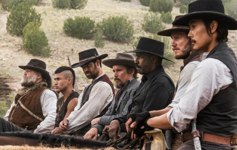 The Magnificent Seven, a remake of the 1960 film of the same name, which was a English remake of the iconic Seven Samurai (1954) by Japanese film maker Akira Kurosawa, is a star studded action western, led by Denzel Washington, Chris Pratt, and Ethan Hawke. The Magnificent Seven opens on September 23.