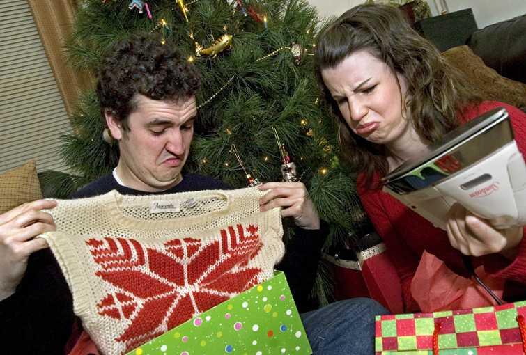 12/05/06-(Harrisonburg)  Photo illustration of receiving bad Christmas gifts. (Nikki Fox/Daily News-Record)