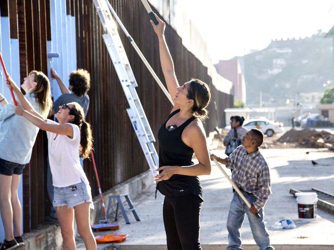 Activist Artist Repaints Image of The Border