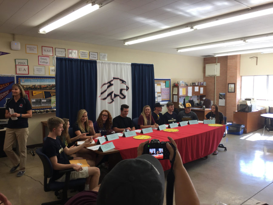Sahuaro Signing Day 2k17 - Ten Athletes Commit