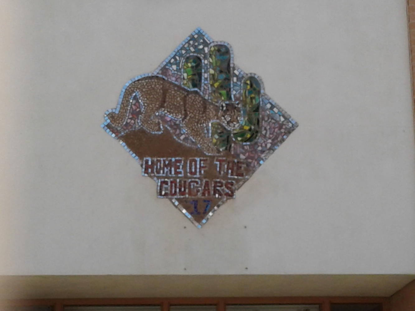 Seniors Create Mosaic Mural Above 100 Building