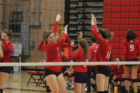 First Home Girls Volleyball Game Sets The Bar High