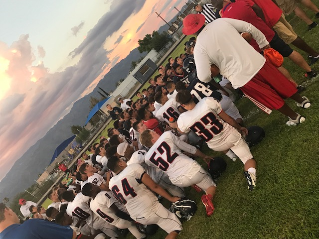 Red and Blue Scrimmage Game Kicks Off Football Season
