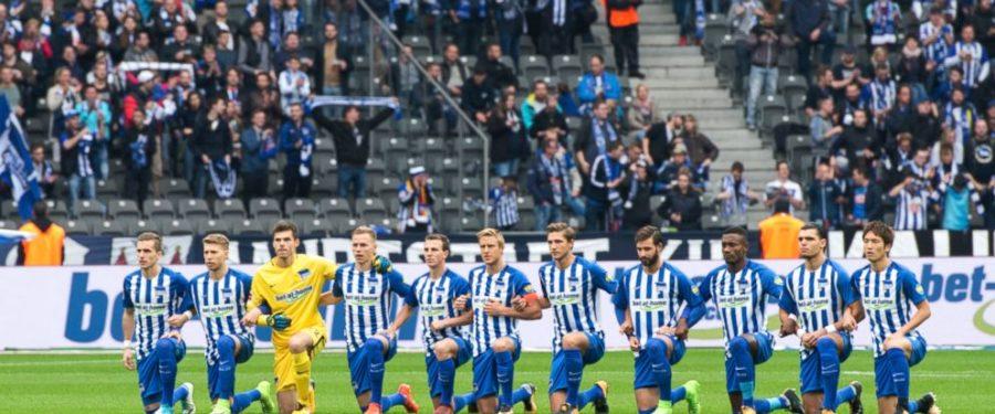German Soccer Team Takes A Knee