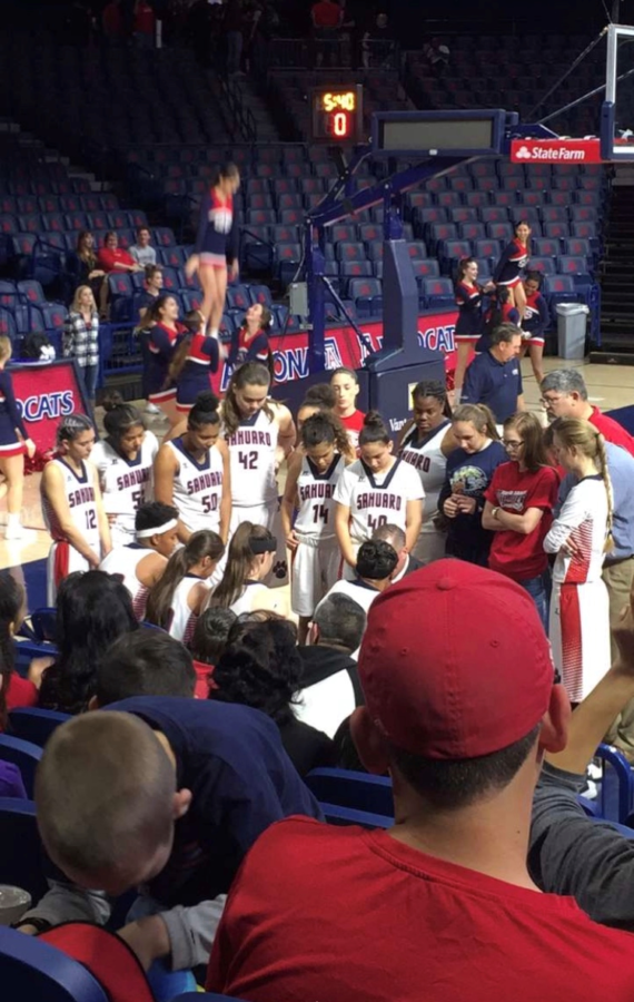 Girls and Boys Cougar Basketball at McKale Center