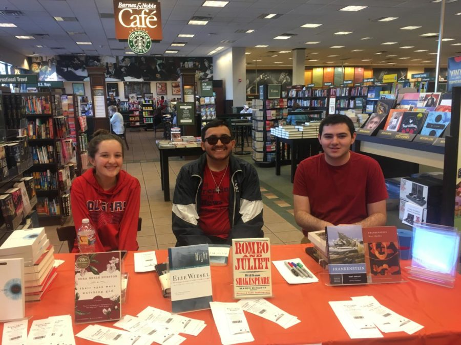 Connor Fries Heads Successful Barnes & Noble Fundraiser