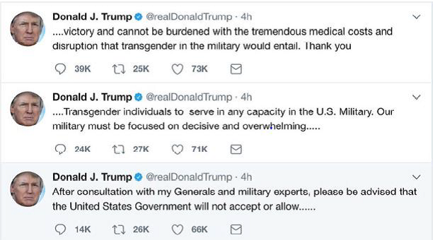 Transgender Joins The Military
