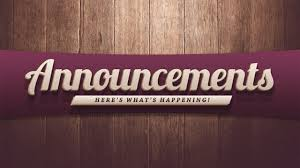 Weekly Announcements for September 17-21