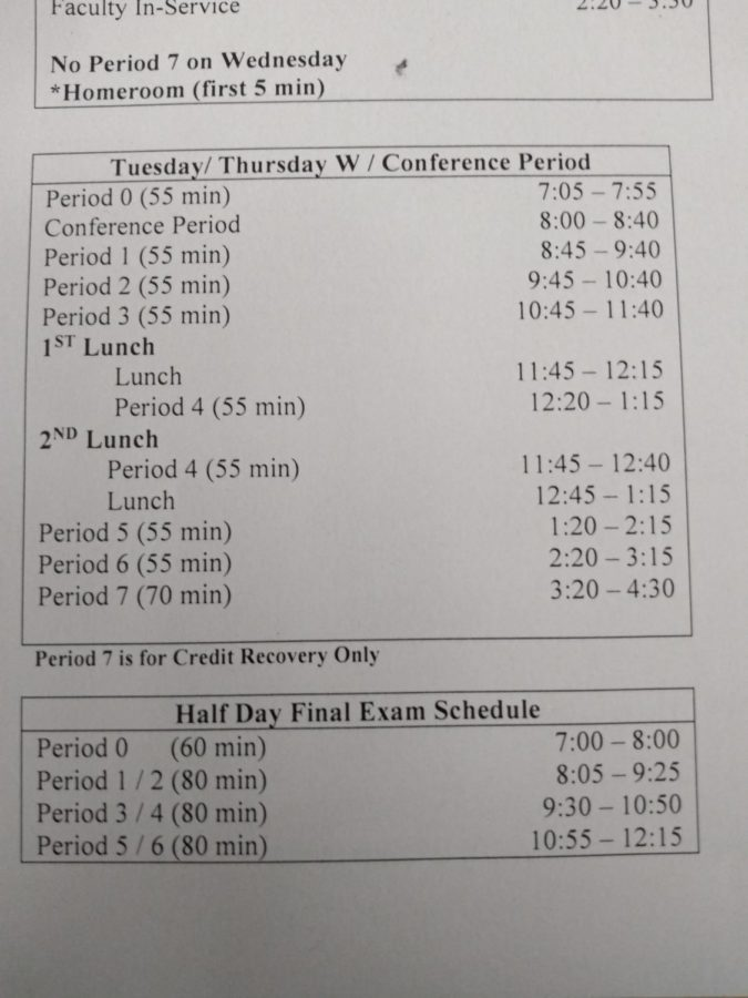 Administration Enforcing Conference Periods Not for Hanging Out