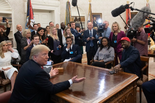 West and Trump: Face to Face at Last
