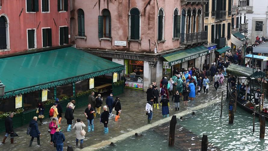 Venice Landmarks Flooded