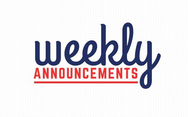 AnnouncementsMonday, February 17, 2020