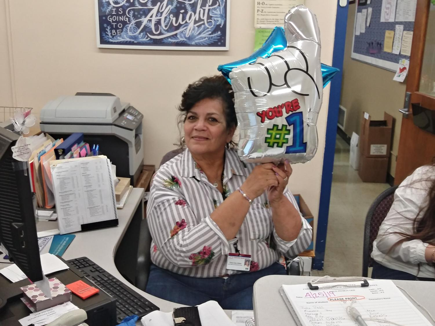 Gloria Soto-Wilson, in the counseling office.