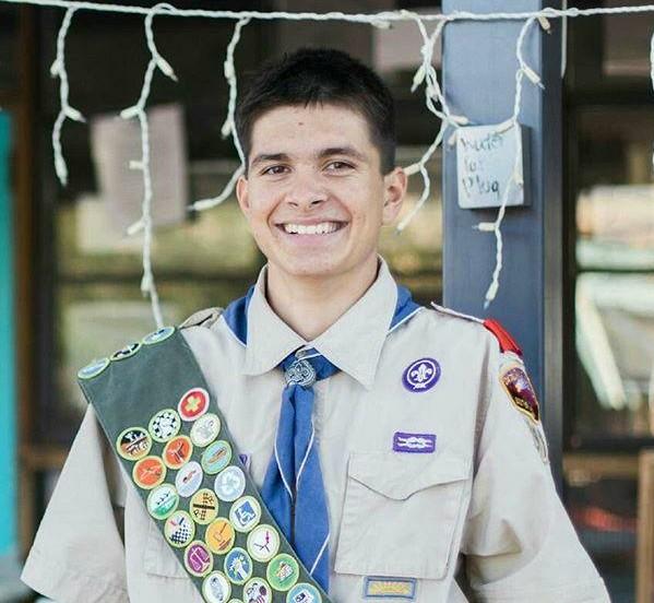 Zach Sierra and His 136 Merit Badges