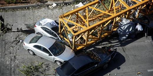 Six Car Crane Crash