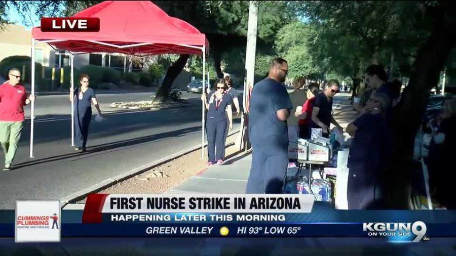 Nurses+Strike+for+Higher+Wages