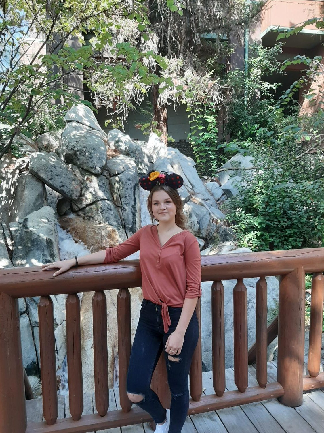 Daria poses for picture at  the happiest place in the world; Disneyland
