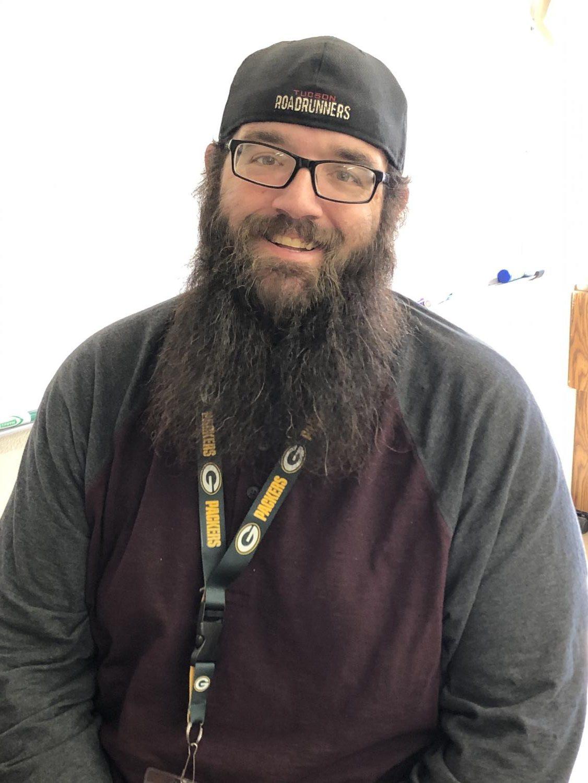 Karson Lown--new history teacher at Sahuaro