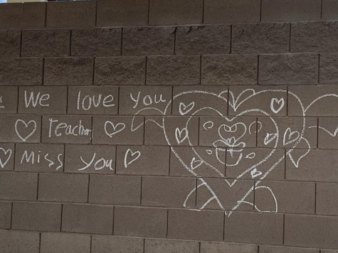 Students expressing their  love to their teachers