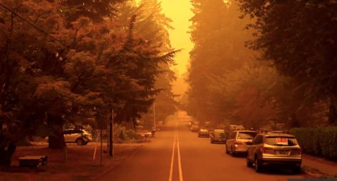 Wild fires in California and Oregon