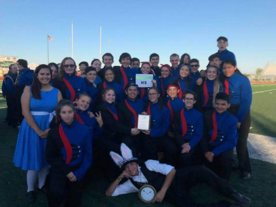 Sahuaro's 2018 Marching Band after their Championships performance with their show, Alice