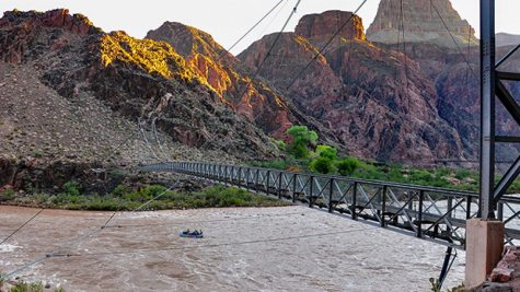 Part of the Silver Bridge in the Grand Canyon
