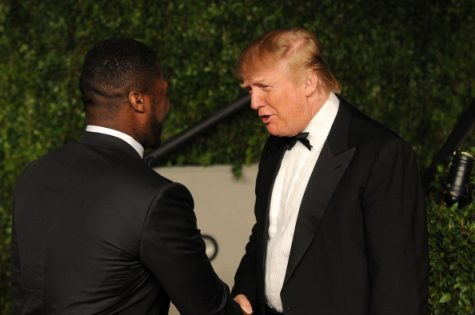 50 Cent and Donald Trump arrive at the Vanity Fair Oscar party hosted by Graydon Carter held at Sunset Tower on February 27, 2011 in West Hollywood, California. (Photo by Mark Sullivan/WireImage)