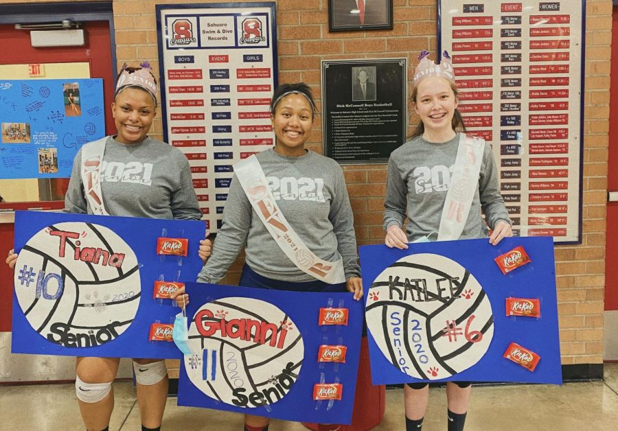 Girls Volleyball: A Senior Night To Remember