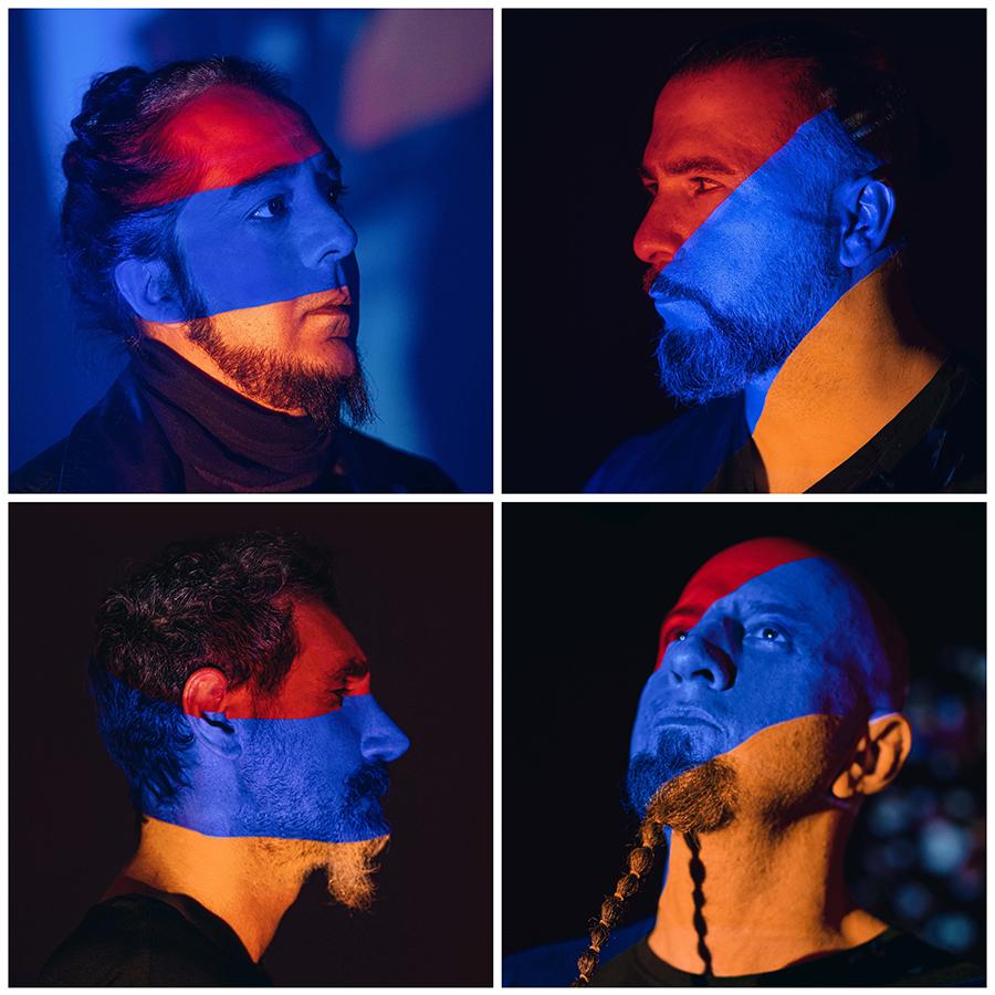 Top, from Left:  Daron Malakian, John Dolmayan; Boffom, from Left:  Serj Tankian, Shavo Odadjian