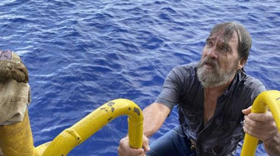 Man Lost At Sea, Found Alive Clinging Onto Capsized Boat