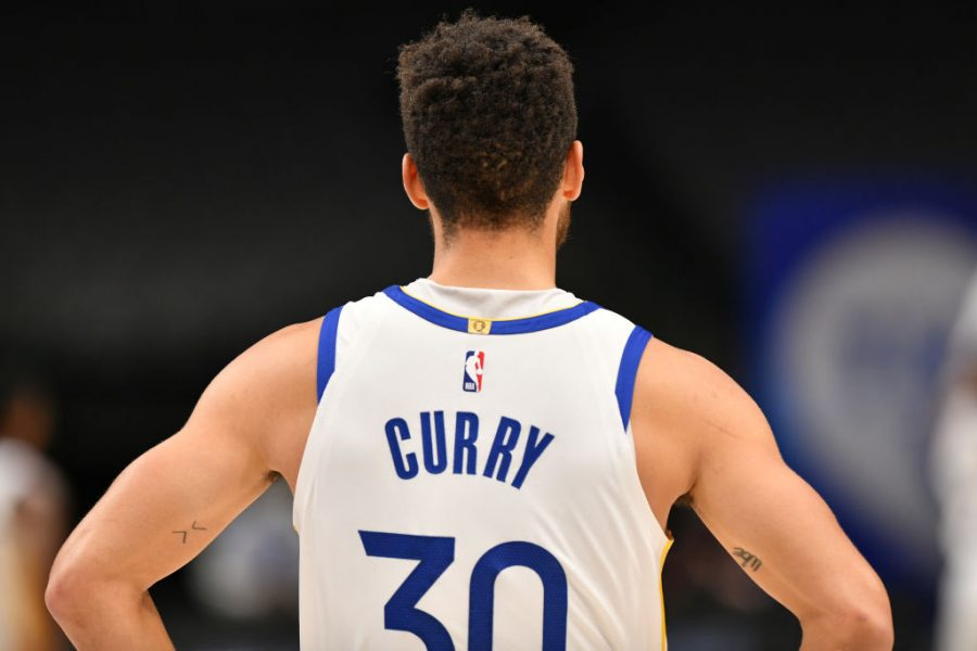 DALLAS%2C+TX+-+FEBRUARY+6%3A+Stephen+Curry+%2330+of+the+Golden+State+Warriors+looks+on+during+the+game+against+the+Dallas+Mavericks+on+February+6%2C+2021+at+the+American+Airlines+Center+in+Dallas%2C+Texas.+NOTE+TO+USER%3A+User+expressly+acknowledges+and+agrees+that%2C+by+downloading+and+or+using+this+photograph%2C+User+is+consenting+to+the+terms+and+conditions+of+the+Getty+Images+License+Agreement.+Mandatory+Copyright+Notice%3A+Copyright+2021+NBAE+%28Photo+by+Glenn+James%2FNBAE+via+Getty+Images%29