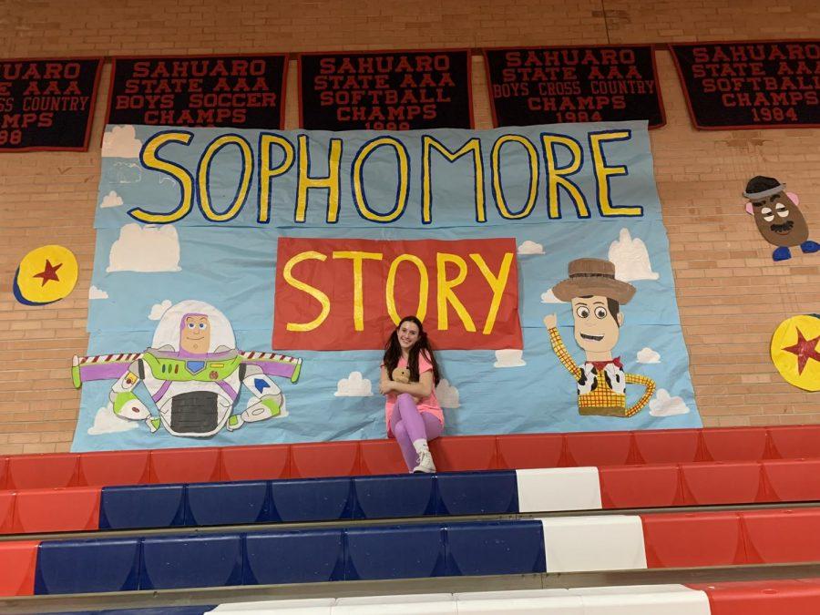 Jenna at a pep rally her sophmore year!