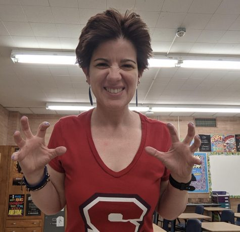 Ms. Biddles first day here at Sahuaro