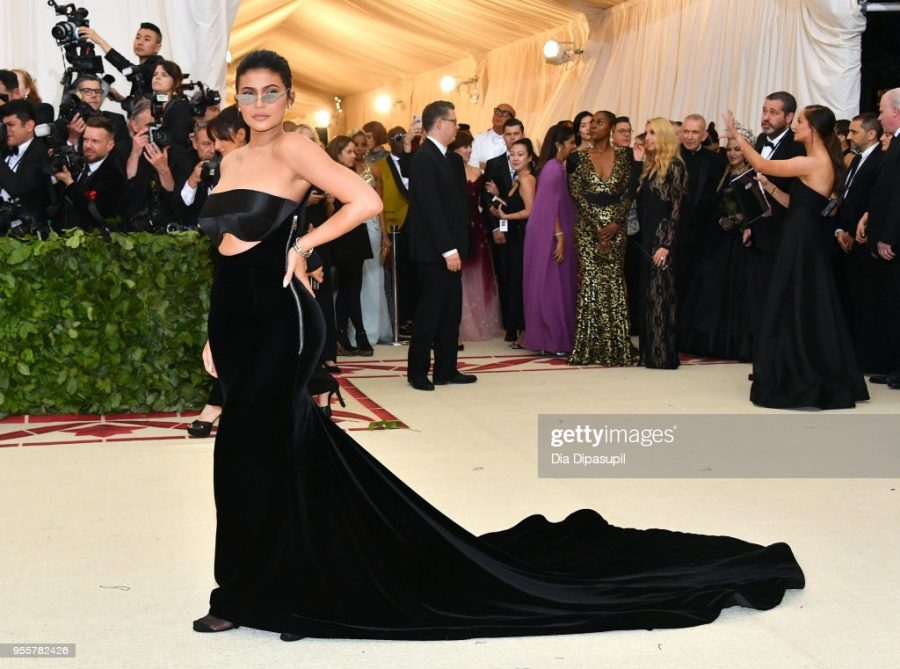 If youre not going to follow the theme at the most significant fashion event of the year, why are you even going? Kylie Jenner thought her plain silk Balmain dress with a flowing train and triangle shaped glasses was appropriate for Heavenly Bodies, giving us absolutely nothing. Its boring and I expected more from the 21-year-old billionaire. 5/10. (Photo by Dia Dipasupil/WireImage)